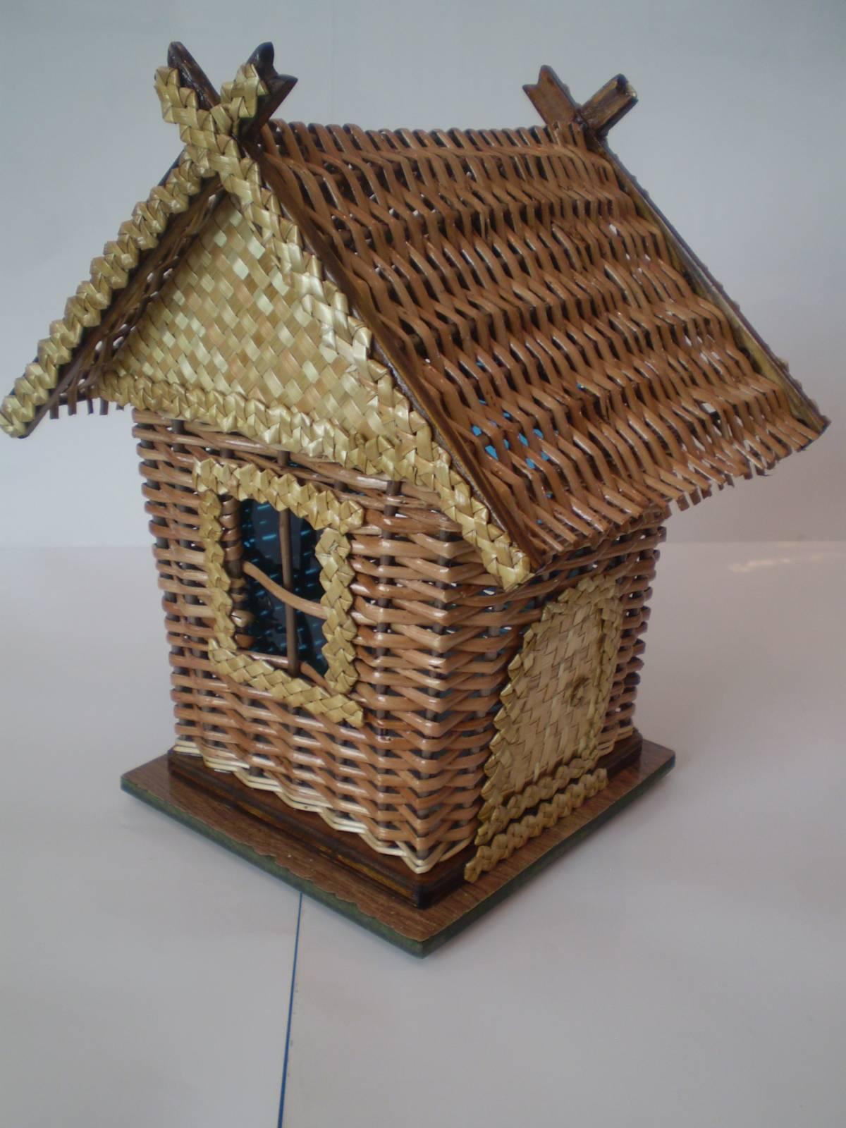 Поделка изделие Плетение Чайный домик Плетение из газет 100